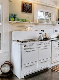 kitchens without cabinets simple white wooden counter smooth gray