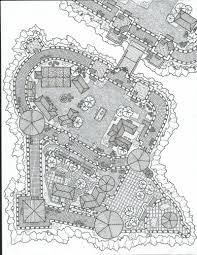 castle layout 2 black and white by aovsepian on deviantart