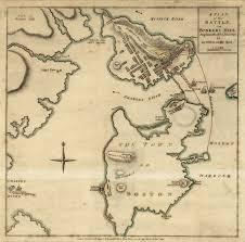 Boston On Map by Battle Of Bunker Hill