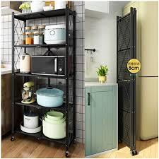 kitchen storage cupboard on wheels kuhxz foldable storage shelves multi function