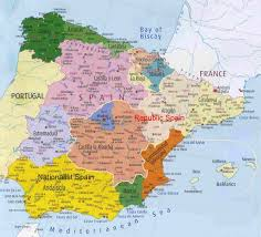 Spain France Map by Ah War Civil Spain Alternate History Discussion