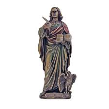French Word For Home Decor St John Statue Bronzed 8 5