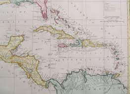 Map Of West Indies West Indies Mexico Florida Etc Antique Map By W Guthrie 1785 Sold