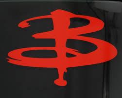 buffy the vampire slayer b symbol vinyl decal