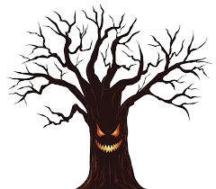 clipart spooky tree pencil and in color