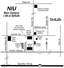 Directions maps niu northern illinois center for accelerator
