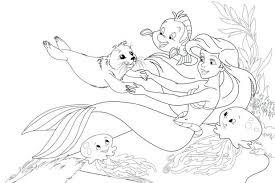 printable princess ariel coloring pages free eric
