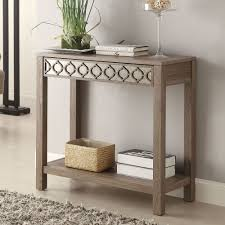 decor simple and natural wooden rectangle foyer table that