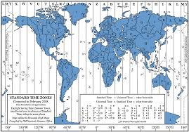 Time Zone Map by Survival Maps World Maps