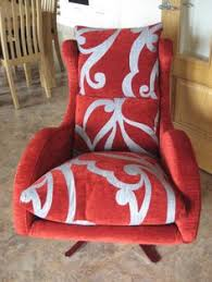 Designer Swivel Chair - turquoise swirl fabric on our contemporary designer swivel and
