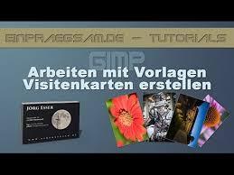 visitenkarten design erstellen gimp tutorial visitenkarten erstellen arbeit mit vorlagen