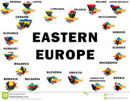 Europe Outline Map by Eastern Europe Stock Illustration Image 68714348