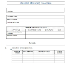 37 best standard operating procedure sop templates