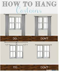 Height Of Curtains Inspiration How To Hang Bedroom Curtains Best 25 How To Hang Curtains Ideas On