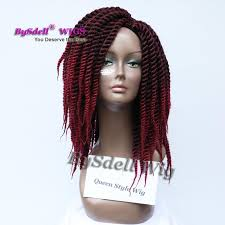 crochet hair wigs for sale hot sale synthetic two tone ombre fat crochet braid hair wig