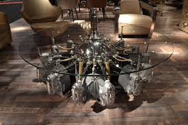airplane engine coffee table home table decoration