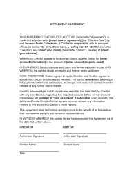 payment settlement agreement payment settlement agreement personal