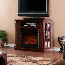 espresso media electric fireplace with storage electric