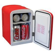 black friday mini fridge coca cola personal refrigerator red kwc4 target