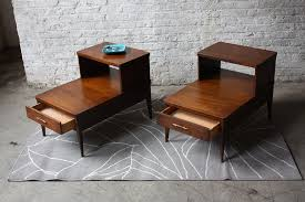 mid century end table handsome broyhill saga mid century modern end tables mint flickr