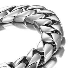 bracelet silver mens images Powerful stainless steel men 39 s bracelet silver 8 4 jpg