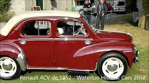 1959 renault 4cv renault 4cv de 1952 waterloo historic cars 2012 youtube