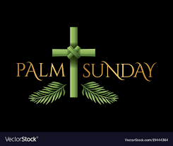 palm sunday crosses christian palm sunday cross theme royalty free vector image