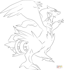 reshiram pokemon coloring page free printable coloring pages