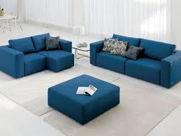 Blue Sofa Living Room Design by Best White Leather Sectional Sofa For Small Living Room Eva