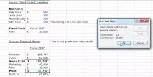 Seeking Vost How To Use The Goal Seek Feature In Excel Quora