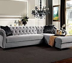 grey sectional sofa with chaise product reviews buy 1perfectchoice potterdam luxurious sectional