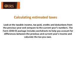 what is irs form 1040 es estimated tax for individuals