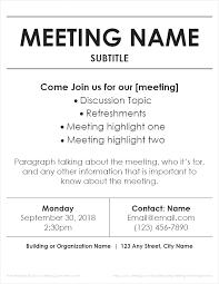 meeting flyer template church business meeting flyer template