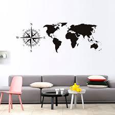 popular wallpaper kids world map buy cheap wallpaper kids world compasses world map wall sticker for kids room living room bedroom tv background removable waterproof wallpaper