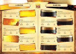 beer menu beer menu in yellow and black tones free vector beer