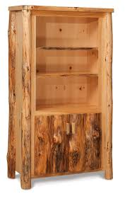 Wide Bookcase With Doors Furniture Rustic Bookcase Lovely Rustic Log Bookcase With Doors
