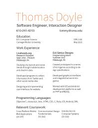 Business Card Resume Resume And Business Card Final Tommy U0027s Cdf Blog