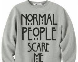 horror sweater sweater grey normal scare me horror grey