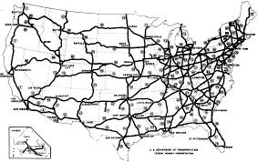 map us interstate system the dwight d eisenhower system of interstate and defense highways