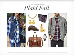 What Is Plaid Style Of The Week Plaid Fall Flexi News