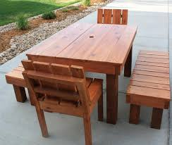 Redwood Patio Table Adwoodcraft Patio Tables And Chairs