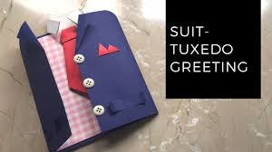 diy suit tuxedo greeting card tutorial how to make greetings