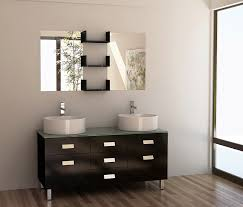 Vessel Sink Bathroom Vanity by 55 Inch Modern Double Vessel Sink Bathroom Vanity Set