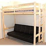 Metal Bunk Bed With Futon Futon Bunk Bed Complete With Mattresses In Silver Metal Finish