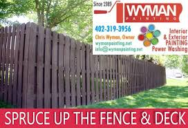 why omaha fence staining adds curb appeal wyman
