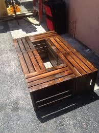 wine crate coffee table custom made 6 wine crate coffee table rustic a coffee table