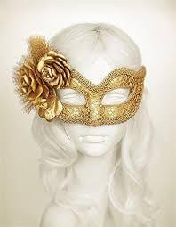 gold masquerade masks metallic gold masquerade mask with fabric roses us