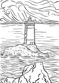 free coloring pages beach pin lighthouse coloring pages beach on pinterest throughout