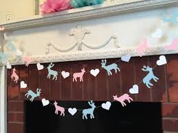 Baby Showers Decorations by Buck Or Doe Garland Woodland Themed Baby Shower Decorations