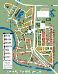 Site Map Flat Rock Bridge Family Camping